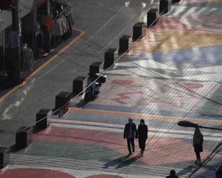 [Photo News] Streets of Hongdae deserted amid pandemic