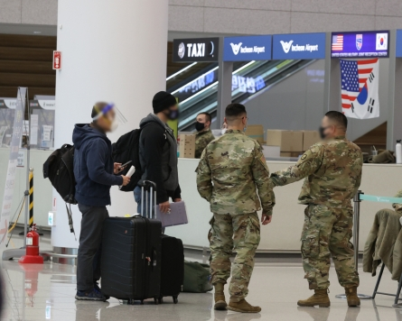 31 USFK-linked people test positive for coronavirus upon arrival in S. Korea