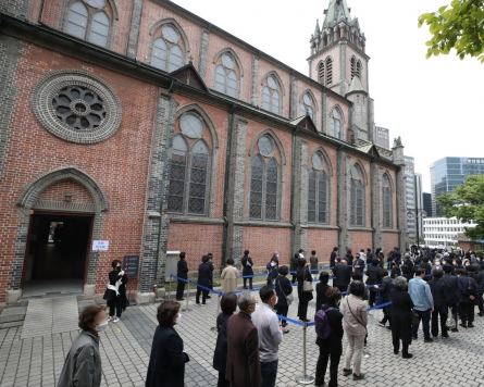 [From the Scene] Catholics mourn passing of Korea's second cardinal