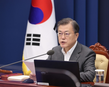 Moon sends condolence letter to Mexican leader over metro line disaster