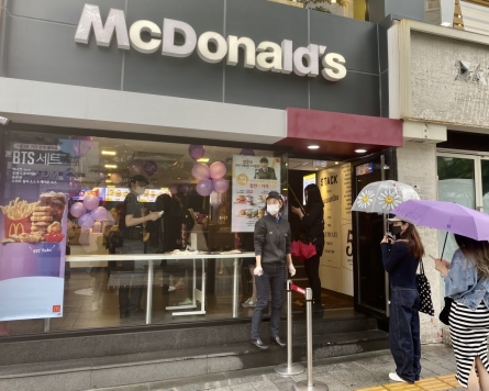 [From the scene] Fans line up for BTS Meal at McDonald's in South Korea