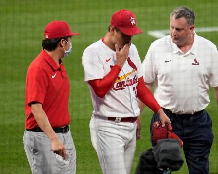 Cardinals' Kim Kwang-hyun placed on IL with back tightness