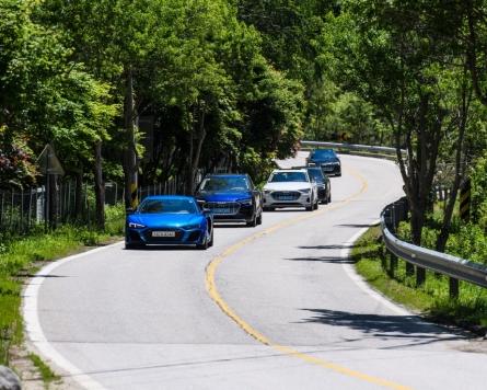 Audi's most powerful vehicles whizz on Inje Speedium