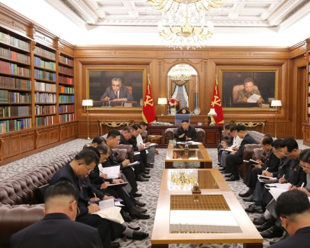 NK leader holds meeting with top officials to discuss economic policies in second half