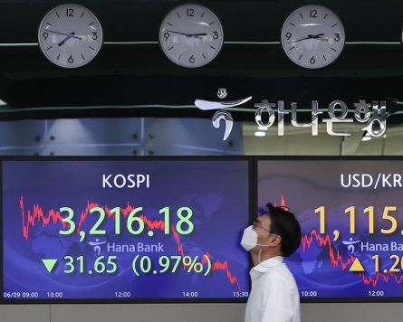 Seoul stocks slump for 2nd day ahead of US inflation data release