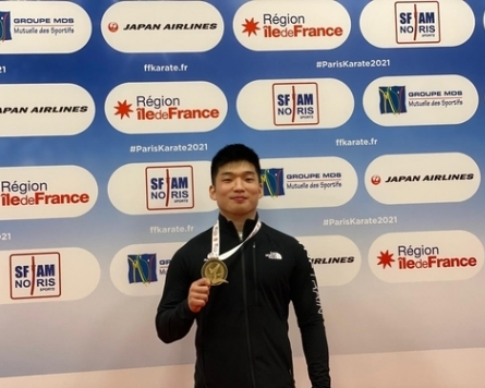Park Hee-jun wins S. Korea's first Olympic qualification in karate