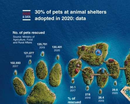 [Graphic News] 30% of pets at animal shelters adopted in 2020: data