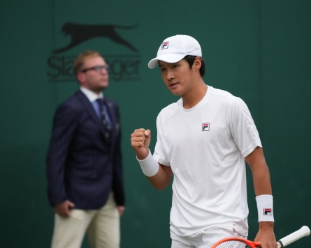S. Korean Kwon Soon-woo eliminated in 2nd round at Wimbledon