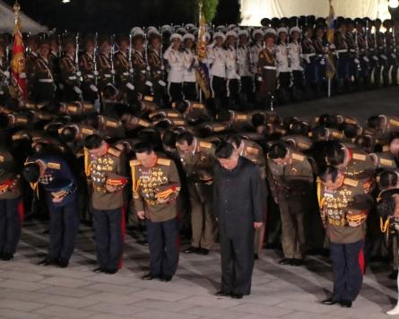 NK's Kim pays tribute to Pyongyang's fallen soldiers in Korean War