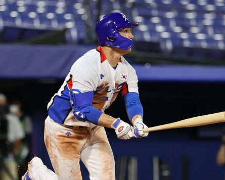[Tokyo Olympics] Much-maligned baseball player delivers clutch hits in opening win