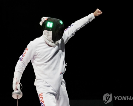 (Olympics) S. Korea wins bronze in men's team epee fencing