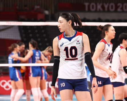 [Tokyo Olympics] Teammates bid adieu to volleyball legend Kim Yeon-koung