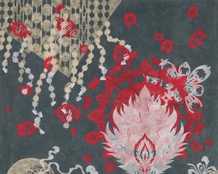 Korean paper collage series a nod toward shaman rituals