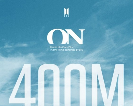 [Today's K-pop] BTS gets 400m-plus views for another video