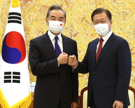 Moon requests China's unswerving support for Korea peace process