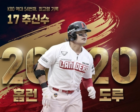 Choo Shin-soo has bigger fish to fry after becoming oldest member of KBO's 20-20 club