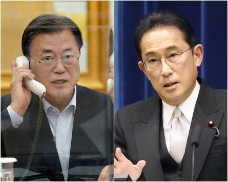 Moon asks Japan's Kishida for diplomacy on disputes
