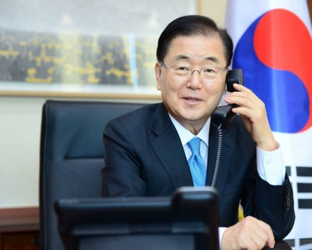 FM Chung set to visit Russia for talks on regional security, bilateral ties