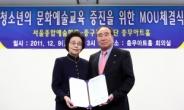 서울종합예술학교-충무아트홀 MOU