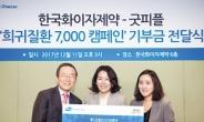 한국화이자 '희귀질환 7000 캠페인' 기금 전달