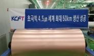 SKC, KCFT 인수에 증시도 '화답'