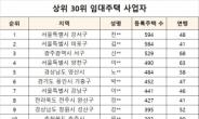 임대사업자 상위 30명, 1만1029채 보유…15명 서울 거주