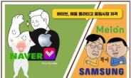[IT선빵!] 네이버·애플 '음원 동맹' …카카오·삼성 연합군에 도전장!