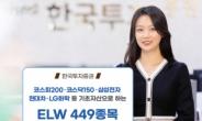 한국투자증권, ELW 449종목 신규 상장