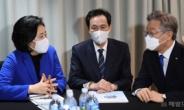 [헤럴드pic] 담소를 나누는 박영선·우상호·이재명