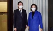 [헤럴드pic] 박영선과 우상호