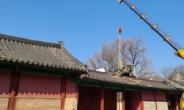 서울 성균관대서 크레인 작업중 보물 문묘 지붕 훼손