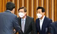 [헤럴드pic] 시-도당위원장 회의에 참석한 오세훈 서울시장 후보와 박형준 부산시장 후보