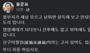"""홍준표, 김웅 겨냥 """"위아래도 없는 막가는 정치"""""""