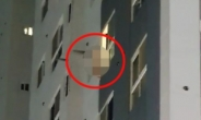 오피스텔 7층 창문에 매달려 한밤 중 투신 소동