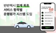 원치않는 대화·난폭운전·악취…'반반택시' 항목별 별점 매긴다
