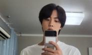 방탄소년단 진, 거울셀카 두 장에 온통 화제