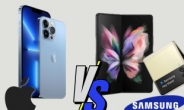 """삼성-애플 서로 깔아뭉개기…""""삼성 성능 떨어져"""" """"아이폰 반으로 안 접혀"""""""