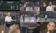 '쇼미10' 첫방송, 시즌4 우승자 베이식이 송민호에게 심사받는 장면