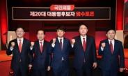 얼굴 붉힌 윤석열·유승민, 훈훈했던 홍준표·원희룡 '맞수토론'