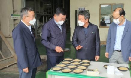 전남농협, 수확기 관내 미곡처리장(RPC)수매 현장 점검