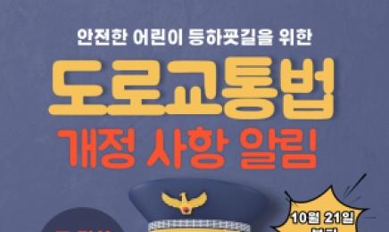 어린이 교통안전 확보를 위한 개정 도로교통법 시행