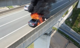 고속도로 달리던 BMW에서 불