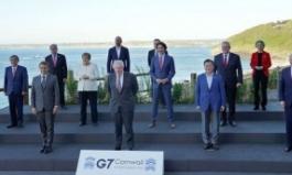 """G7사진서 남아공 대통령 지우곤 """"실수""""였다는 정부"""
