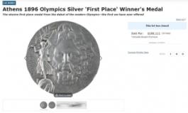 125년전 최초 근대올림픽 1등 '은메달' 경매…낙찰가는?