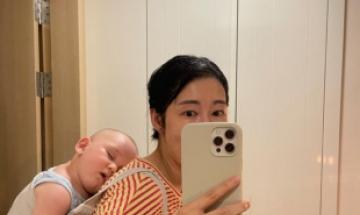 사유리, 육아 일상 공개 …행복한 미소가 저절로