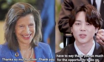방탄소년단 지민, 유엔 총회 참석후 고위 관료들 관심 한몸에