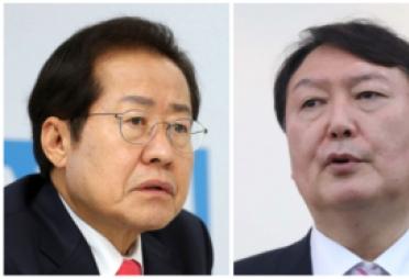 '양자대결'이냐 '4지선다'냐 …윤석열 vs 홍준표, 여론조사 조항 막판까지 격돌