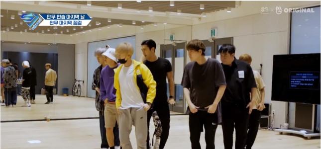 [V Report] Super Junior breaks sweat over choreography