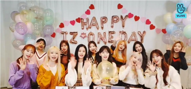 [V Report] IZ*ONE marks first anniversary of debut