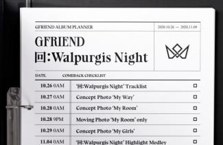 여자친구, 새 앨범 '回:Walpurgis Night' 컴백 체크리스트 공개..11월 9일 발매